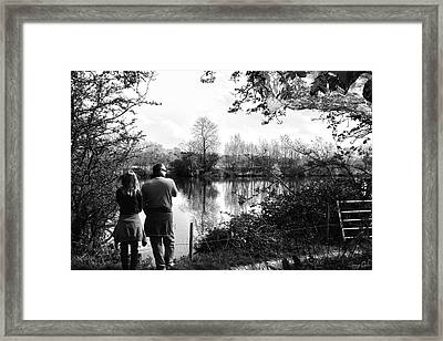 Father And Daughter - River Dee Chester Framed Print by Georgia Fowler