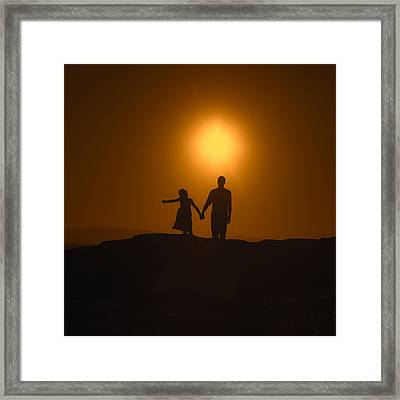 Father And Daughter Framed Print by Joana Kruse