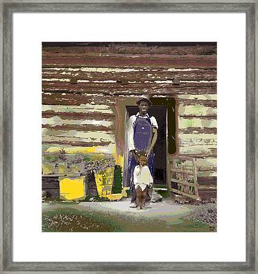 Father And His Son Framed Print