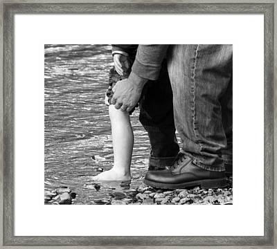 Father And Son 2 Framed Print by David Lester