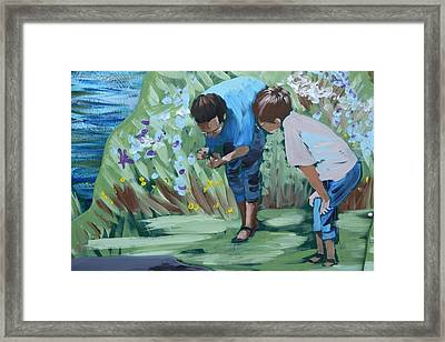 Father And Son Detail Of Spring 1 Framed Print