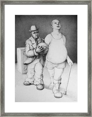 Father And Son Framed Print by Louis Gleason