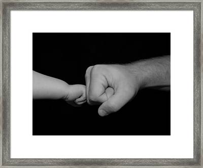 Father And Son Framed Print by Malania Hammer