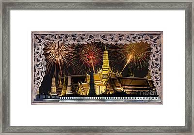 Father Celebrate In Wat Phra Kaew  Framed Print by Anek Suwannaphoom
