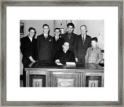 Father Edward Flanagan Proudly Sits Framed Print