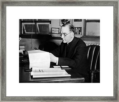 Father Edward J. Flanagan, Founder Framed Print