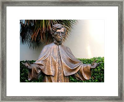 Father Felix Varela's Garden Framed Print by Warren Clark