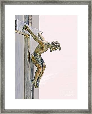 Father Forgive Them Framed Print by Al Bourassa
