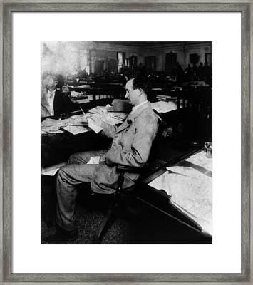 Father Of President Lyndon Johnson. Sam Framed Print by Everett