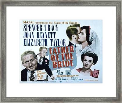 Father Of The Bride, Spencer Tracy Framed Print