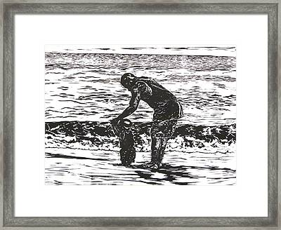 Father's Guidance Framed Print by Sabrina McGowens