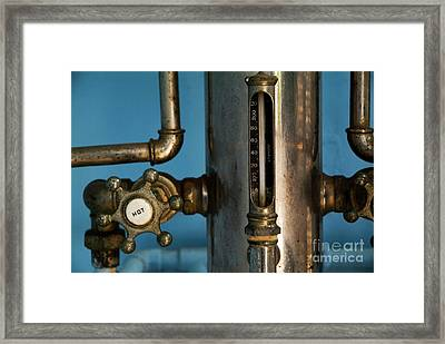 Faucet Of A 19th Century Shower Framed Print