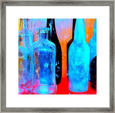 Fauvist Bottles Framed Print