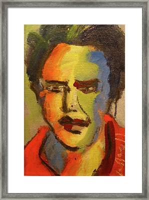 Fauvist Elvis Framed Print by Les Leffingwell