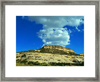 Framed Print featuring the photograph Faux Volcano by Lin Haring