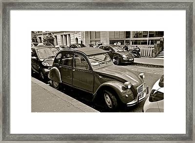 Framed Print featuring the photograph Favored Car by Eric Tressler