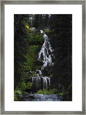 Favorite Falls Framed Print by Arlyn Petrie