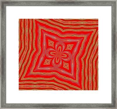 Favorite Red Pillow Framed Print by Alec Drake