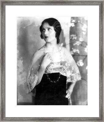 Fay Wray, 1929 Framed Print by Everett