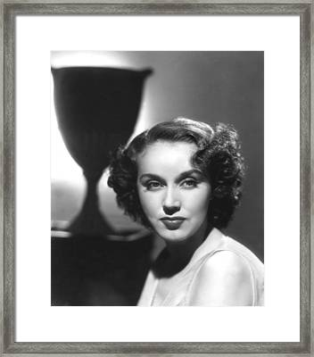 Fay Wray, Columbia Pictures, Ca. Late Framed Print by Everett