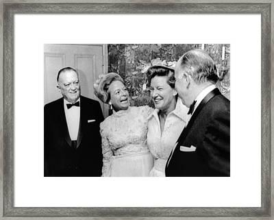 Fbi Director J. Edgar Hoover Attended Framed Print by Everett