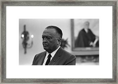 Fbi Director, J. Edgar Hoover, In An Framed Print by Everett