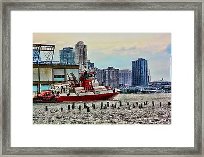 Fdny Fireboat Framed Print