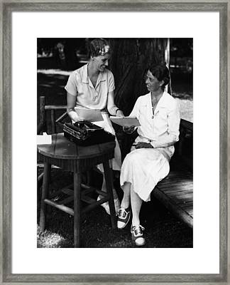 Fdr Presidency. Daughter Of First Lady Framed Print