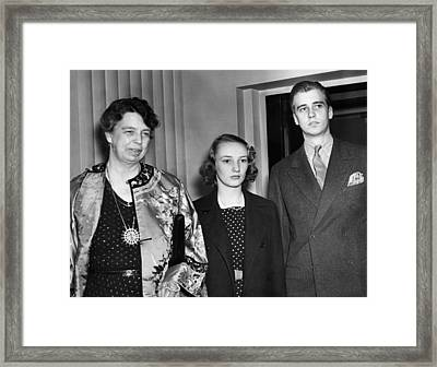 Fdr Presidency. From Left First Lady Framed Print