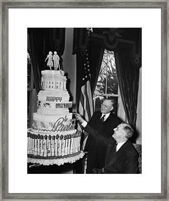 Fdr Presidency. Us President Franklin Framed Print
