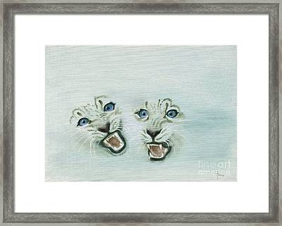Fear Framed Print by Annemeet Hasidi- van der Leij