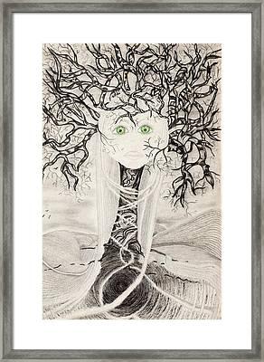 Fear Framed Print by Yolanda Raker