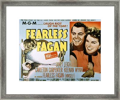 Fearless Fagan, Carleton Carpenter Framed Print