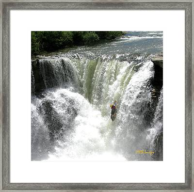 Fearless Kayaker Framed Print by Margaret Buchanan