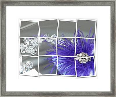 Feather And Jewels Framed Print by Michelle Frizzell-Thompson