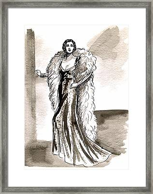 Feather Boa Framed Print by Mel Thompson