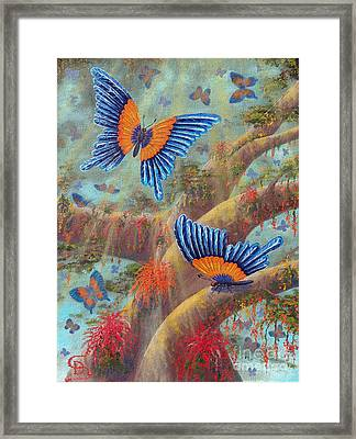 Feather Butterflies From Arboregal Framed Print
