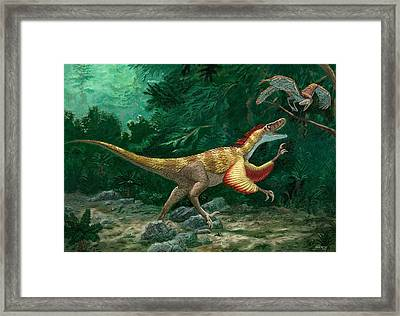 Feathered Dinosaurs Framed Print by Chris Butler