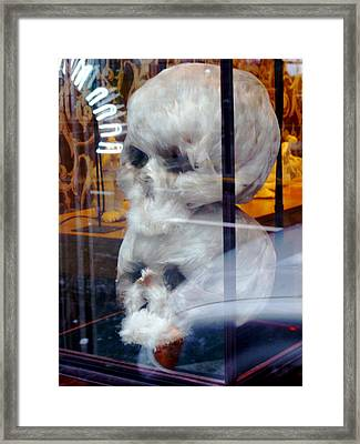Feathered Skulls Framed Print by Amelia Racca