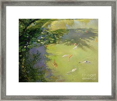Featherplay Framed Print by Timothy Easton