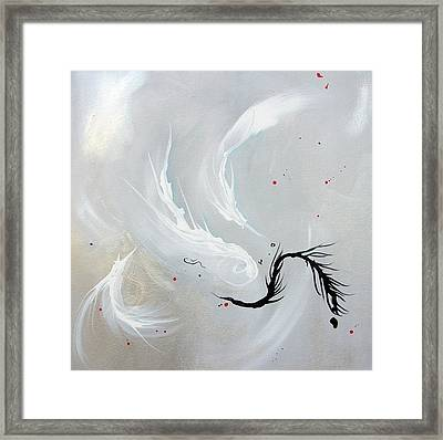 Feathers Framed Print by Mary Kay Holladay