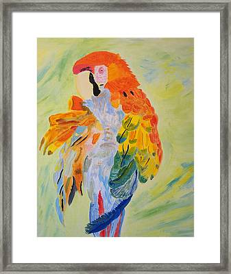 Framed Print featuring the painting Feathers Showing God's Painting by Meryl Goudey