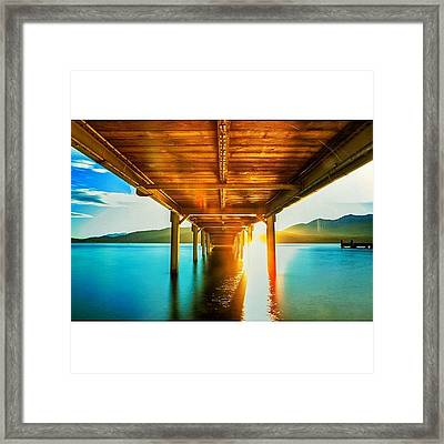 #feature_photo #bride #morning #sunrise Framed Print