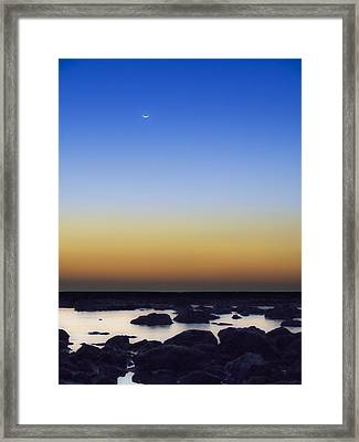 February New Moon Framed Print