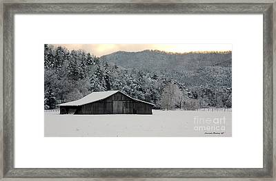 Framed Print featuring the photograph February's Snow by Laurinda Bowling