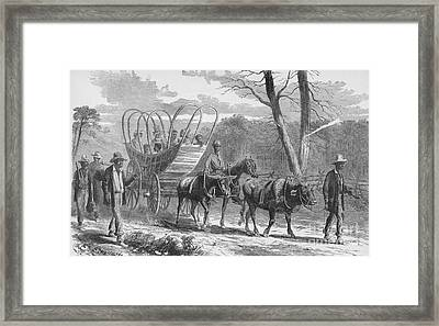 Federal Camp Contraband, 19th Century Framed Print by Photo Researchers