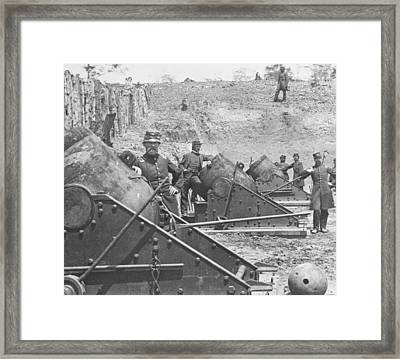 Federal Siege Guns Yorktown Virginia During The American Civil War Framed Print