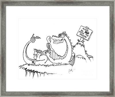 Feed The Dragon Framed Print