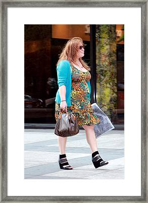 Feelin' Good Framed Print by Deborah  Crew-Johnson