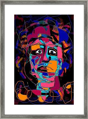 Feeling Blue Framed Print by Natalie Holland